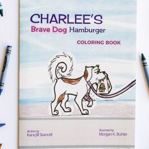 Charlee's Brave Dog Hamburger coloring book