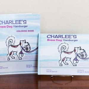 Charlee's Brave Dog Hamburger Coloring book and Hardcover