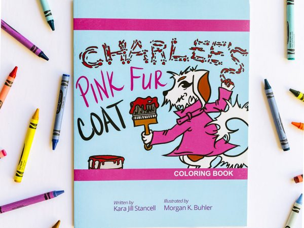 Charlee's Tales Pink Fur Coat coloring book
