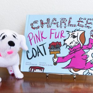 Charlee's Pink Fur Coat hardcover book with plush