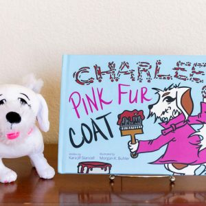 Charlee's Tales Pink Fur Coat hardcover and plush